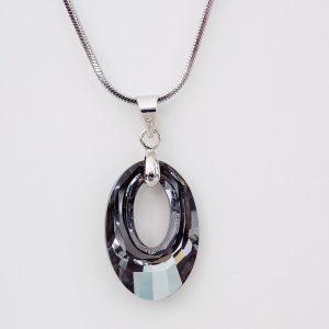 Колие Crystal Pro® Helios Silver Night с кристали Swarovski®