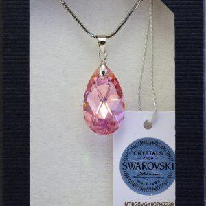 Колие Crystal Pro® Classic Drop Light Rose AB с кристали Swarovski®