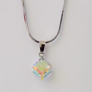 Колие Crystal Pro® Cube Aurore Boreale с кристали Swarovski®