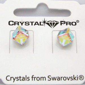 Дамски обеци Cube Aurore Boreale Crystal Pro® с кристали Swarovski®