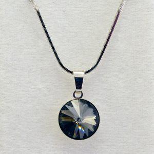 Колие Rivolli Silver Night Crystal Pro® с кристали Swarovski®