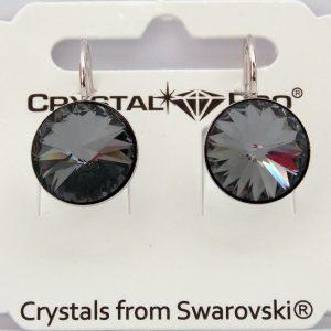 Дамски обеци Crystal Pro® Rivolli Silver Night с кристали Swarovski®