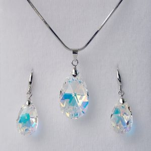 Комплект Crystal Pro® Classic Drop Aurore Boreale с кристали Сваровски®