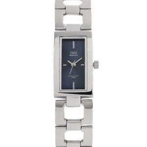 Дамски часовник Q&Q Superior S299J212Y в сребрист цвят с черен циферблат