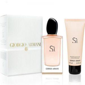Дамски комплект Armani Si Edp 100 ml и боди лосион 75 ml