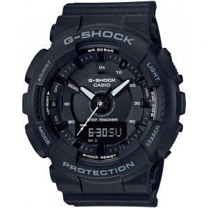 Мъжки часовник ЧАСОВНИК CASIO G-SHOCK GMA-S130-1AER с крачкомер