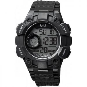 Мъжки часовник Q&Q M176J001Y в черен цвят