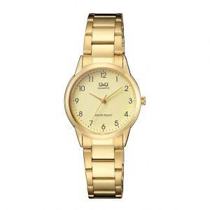 Дамски часовник Q&Q QA45J003 в златист цвят