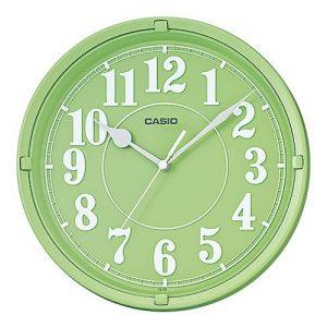 Стенен часовник Casio IQ-62-3 в зелен цвят