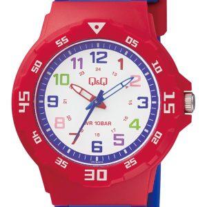 Детски часовник Q&Q - VR19J010Y. Детски часовник за момче в синьо и червено
