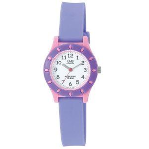 Детски часовник Q&Q - VQ13J014Y в лилаво и розово