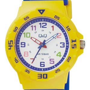 Детски часовник Q&Q - VR19J011Y. Детски часовник за момче в синьо и жълто.
