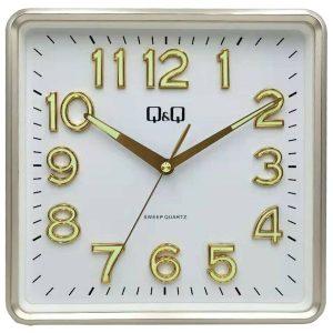 Стенен часовник Q&Q 0309H500Y със сребрист корпус