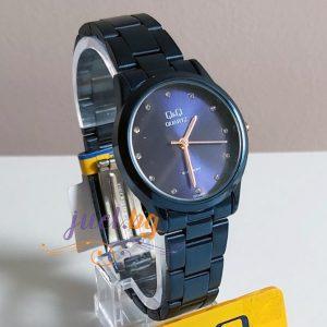 Дамски часовник Q&Q C215J827Y със синя верижка