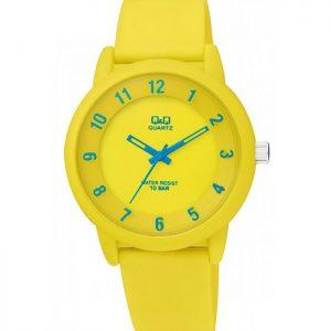 Дамски часовник Q&Q - VR52J004Y , жълт