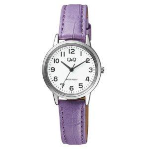 Дамски аналогов часовник Q&Q - Q925J334Y, лилава каишка