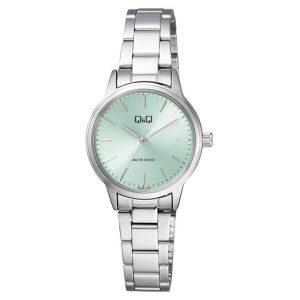 Дамски аналогов часовник Q&Q - Q969J242Y със зелен циферблат