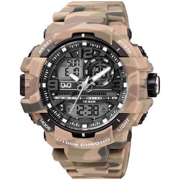 Мъжки часовник Q&Q - GW86J005Y , камуфлажен