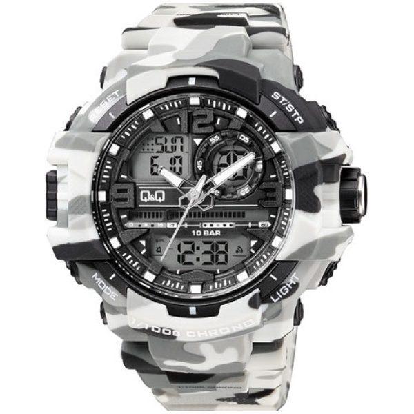 Мъжки часовник Q&Q - GW86J006Y , камуфлажен