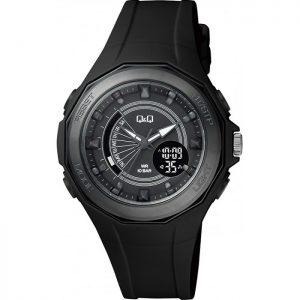 Дамски часовник Q&Q GW91J002Y спортен, черен