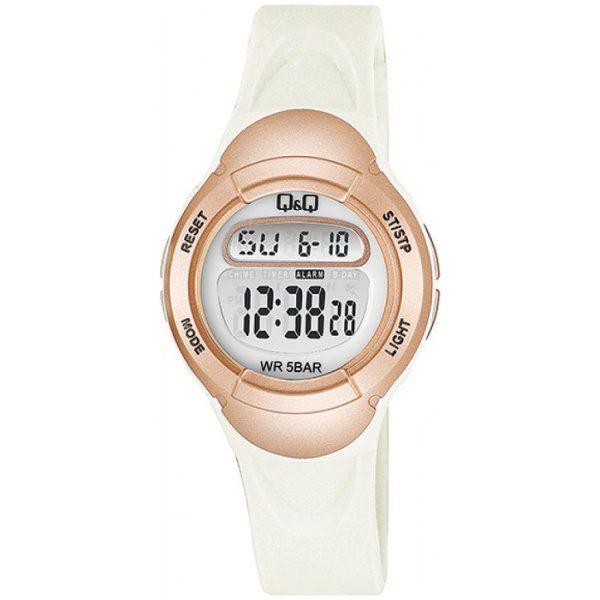 Детски дигитален часовник Q&Q – M194J004Y бял