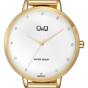 Дамски часовник Q&Q – QB57J031Y , златист
