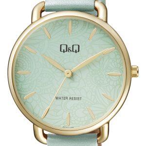 Дамски аналогов часовник Q&Q – QC27J102Y зелен