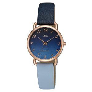 Дамски аналогов часовник Q&Q – QC27J112Y син цвят