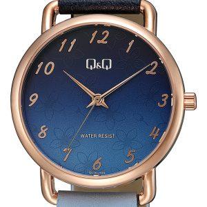 Дамски аналогов часовник Q&Q – QC27J402Y син цвят