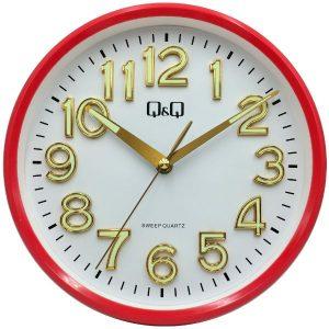 Стенен часовник Q&Q 0310H502Y с червен корпус