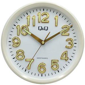 Стенен часовник Q&Q 0310H503Y със бял корпус