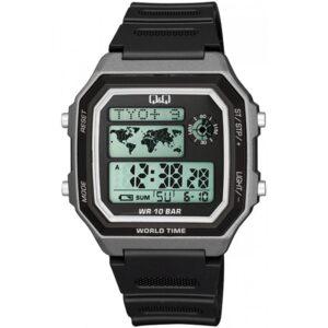 Мъжки дигитален часовник Q&Q World Time - M196J005Y